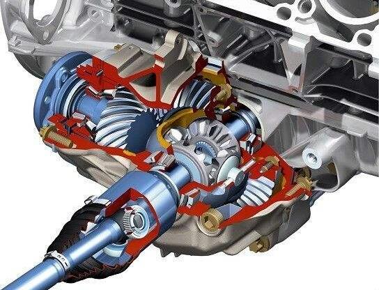 汽车差速器的作用,促成四轮转速差完成转弯