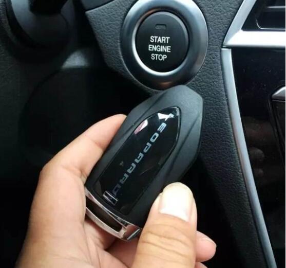 豪车标志无钥匙启动系统,智能识别车主一键启动汽车