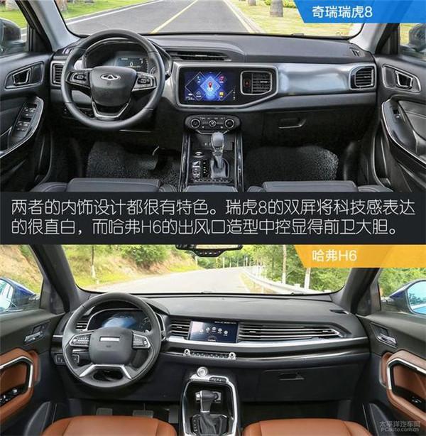 奇瑞瑞虎8和哈佛h6比较,用买哈弗h6的钱来买一台中型SUV