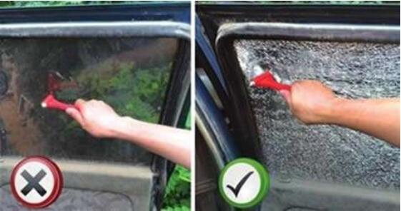 安全锤使用方法和注意事项,敲击4个角破碎的速度是最快的