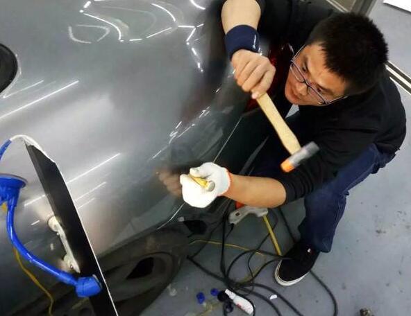 什么叫汽车凹陷修复,不伤原漆物理修复至出厂状态