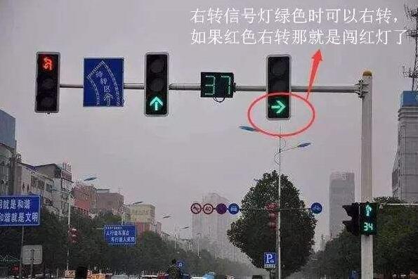各种红绿灯走法图解,让新手过红绿灯也不用再慌张