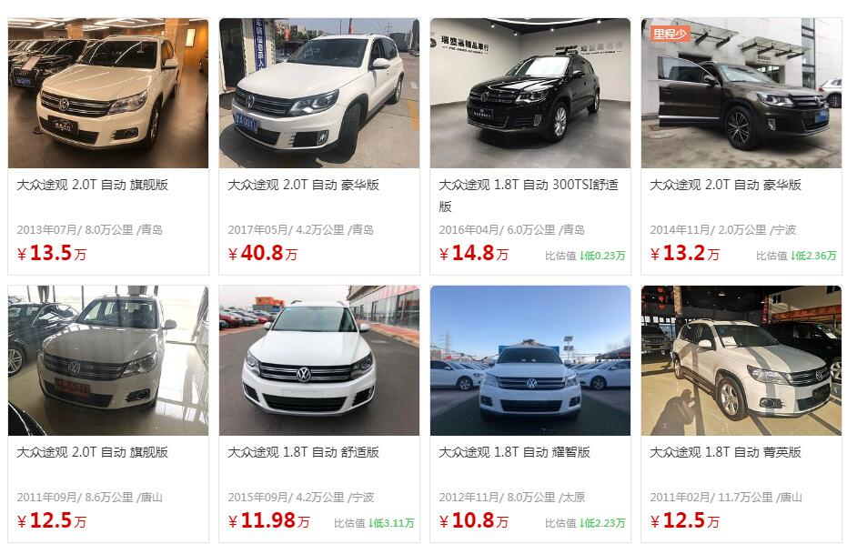 大众途观二手车价格 二手车大众途观怎么样