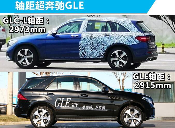 2019款奔驰glc-L加长版 轴距超奔驰GLE配2.0T+9AT(39.28万起售)