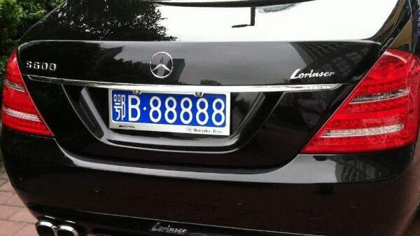 黑色车牌是什么意思 黑色车牌是国外机构使用车牌
