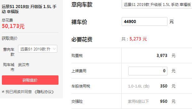 吉利s1的价格是多少 落地仅需5万元性价比超高