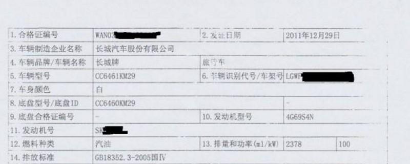 机动车合格证编号 机动车合格证编号是在合格证上面