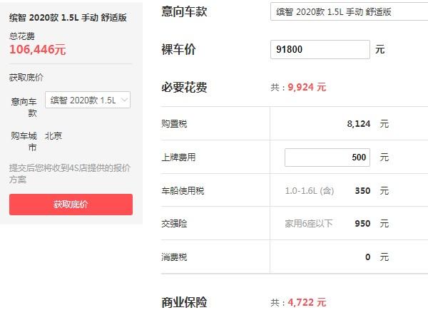 本田缤智suv价格 本田缤智最新价格(2020款售价9万)